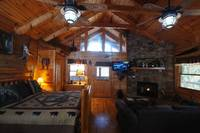Romance is in the air in your Wears Valley studio cabin rental. at ALWAYS AND FOREVER in Wears Valley TN
