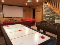 Air Hockey and Fooseball - a great way to wind down. at HIKERS HIDEAWAY CABIN in Wears Valley TN