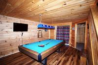 If the Smoky Mountains weather is not cooperating, no worries.  Enjoy a game of pool and catch up on some TV Time. at PEEK-A-VIEW in Wears Valley TN